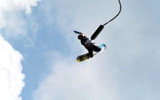 Сноуборд с парашютом